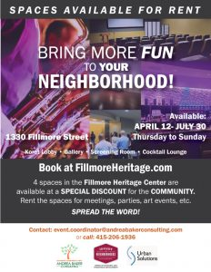 Fillmore Heritage Center Flyer - V.1