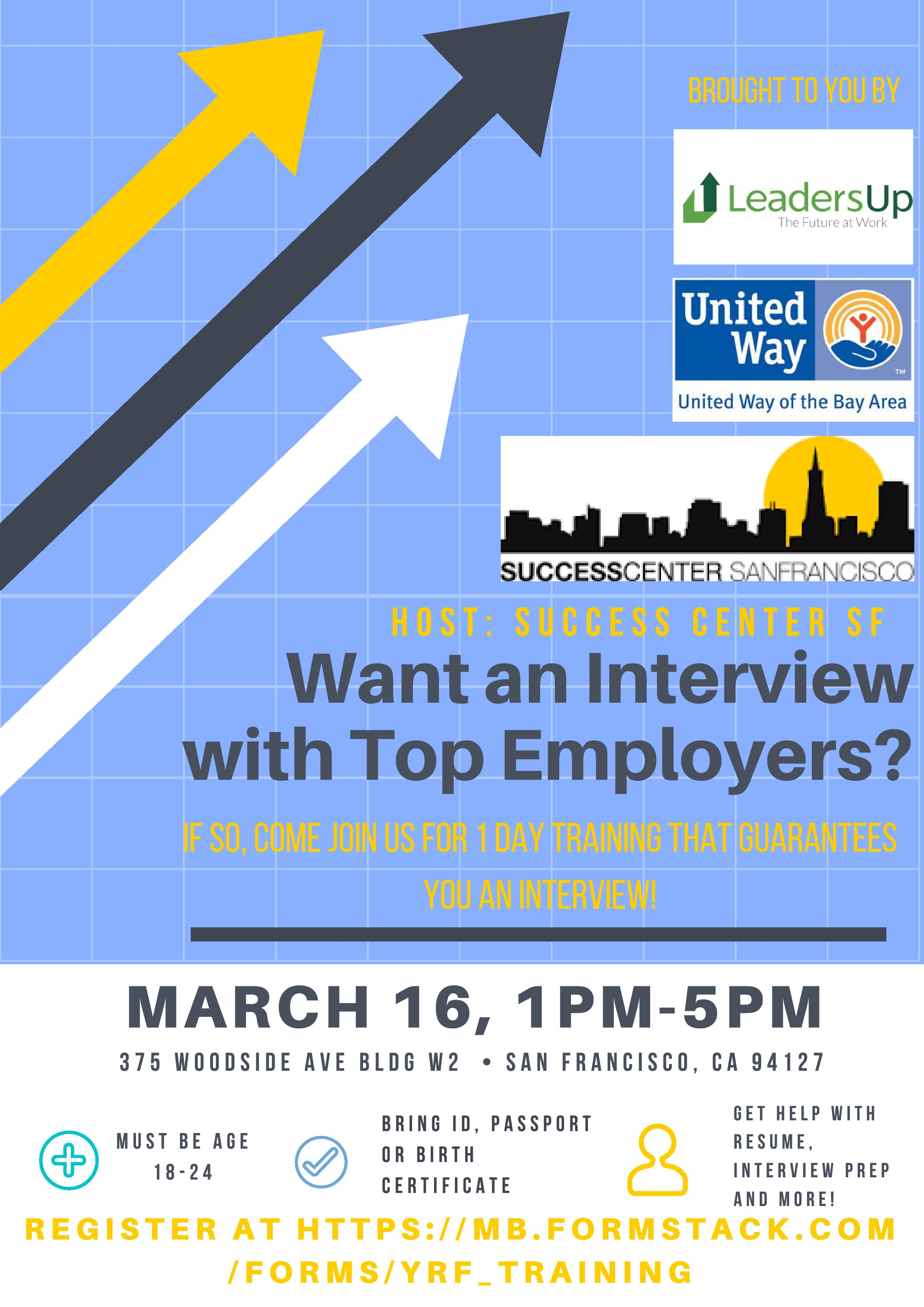 want an interview top employers join success center for 1 15th 2017 want an interview top employers join success center for 1 day training