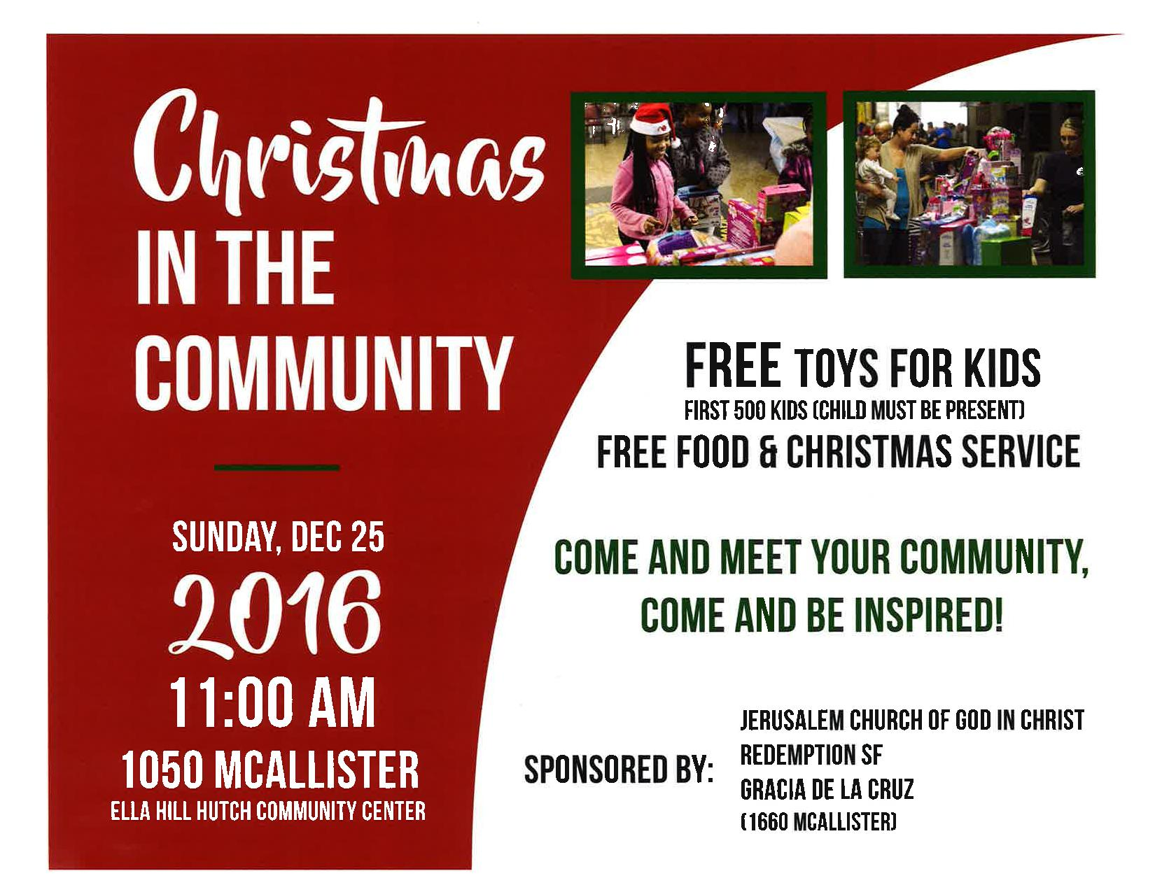 Christmas in The munity – Christmas Day – Free Toys for Kids